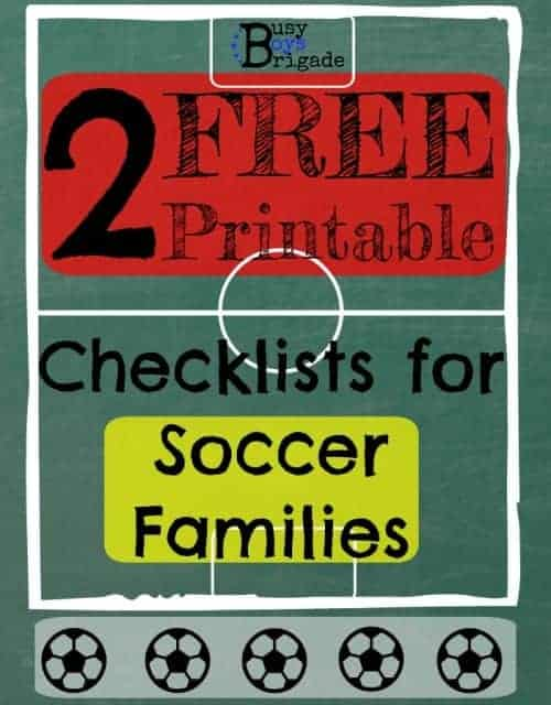 2 Free Printable Checklists for Soccer Families!