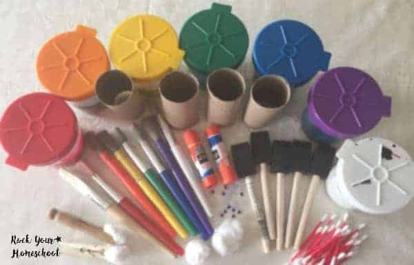 Basic supplies to make this fun craft for My Many Colored Days.