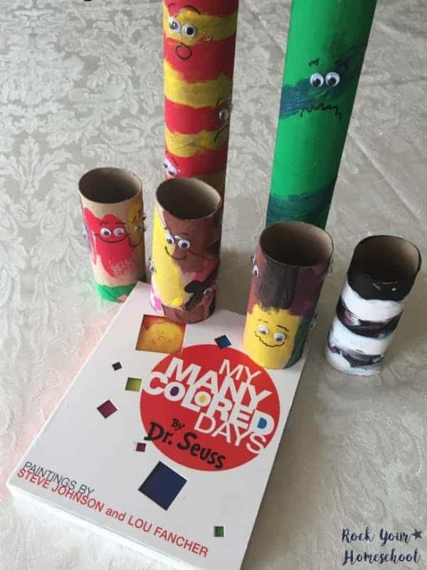 Here is a fun craft to do with My Many Colored Days by Dr. Seuss.