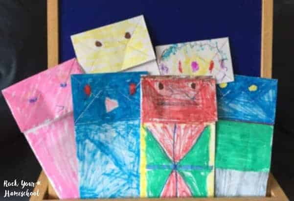 Make puppets as a fun activity for My Many Colored Days.