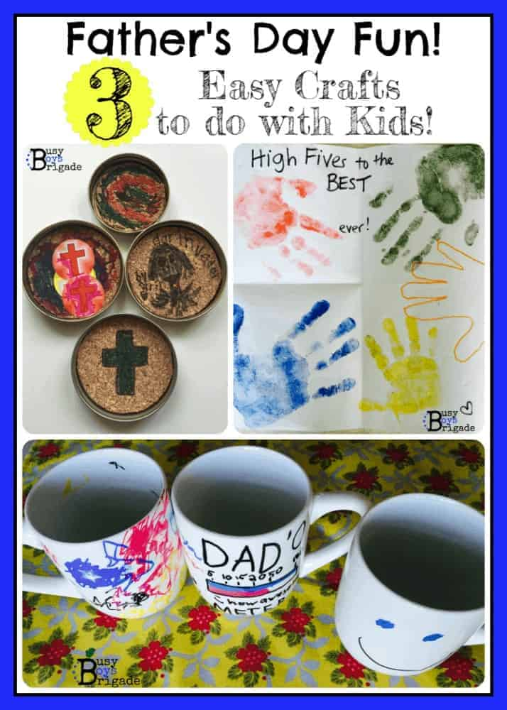 3 Easy Crafts for Kids for Father's Day Fun!