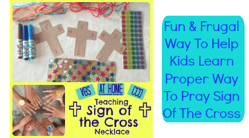 Teach the Sign of the Cross Necklace Craft
