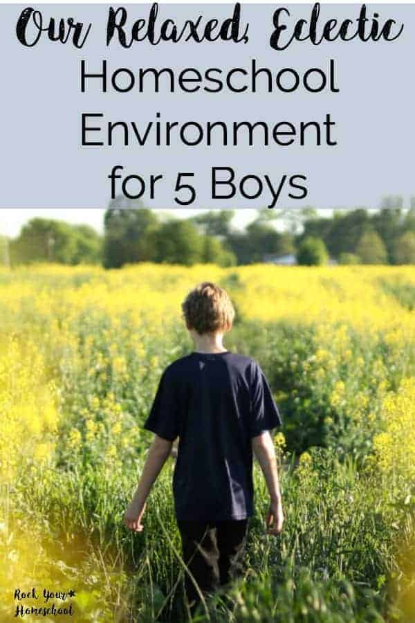 Curious about what homeschooling looks like with five boys? Want to know more about relaxed & eclectic homeschooling? Learn our family approaches homeschooling & share how you homeschool here!