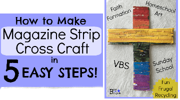 How To Make Magazine Strip Cross Craft in 5 Easy Steps
