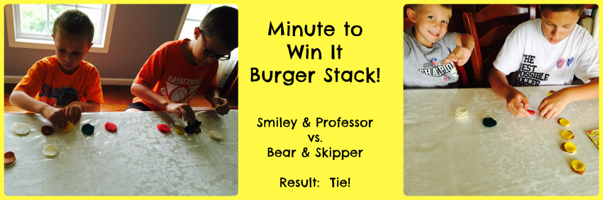 Life of Fred Butterflies Chapter 5 Minute to Win It Burger Stack game