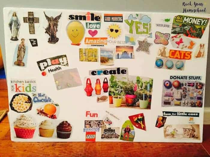 Create your own homeschool vision board to inspired & encourage!