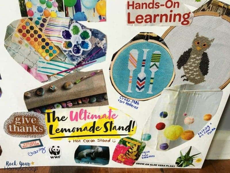 You can use custom themes to make your homeschool vision board extra special.