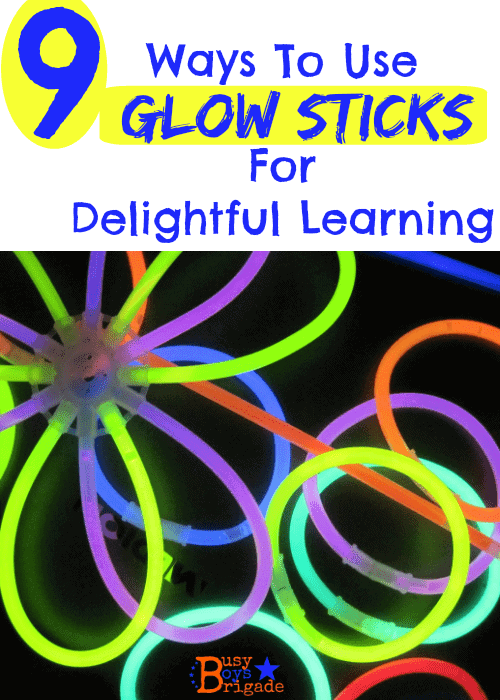 glow sticks learning
