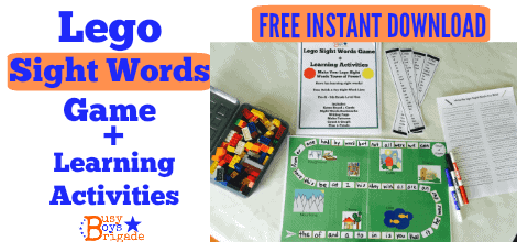 FREE Lego Sight Words Game + Learning Activities