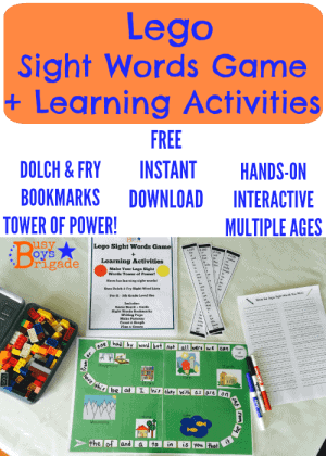 lego sight words game