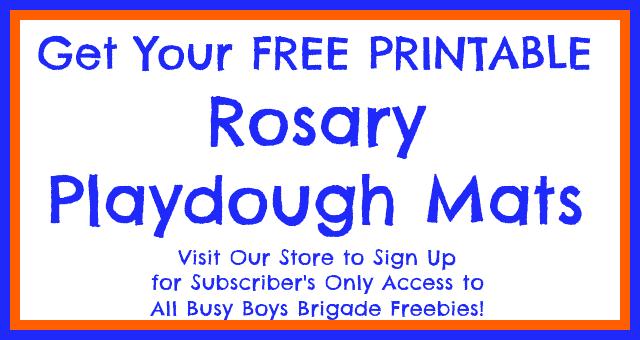rosary playdough mats