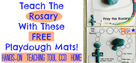 Teach The Rosary With These FREE Playdough Mats