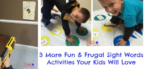 3 More Fun & Frugal Sight Words Activities Your Kids Will Love!