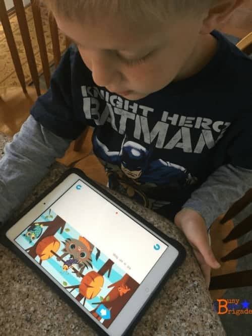 Bear using First Readers Learn With Homer