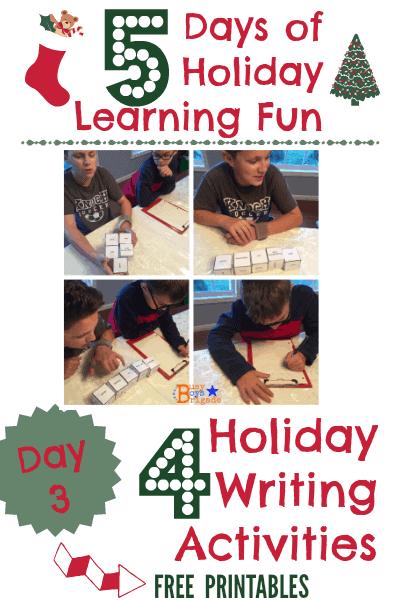 holiday learning fun writing