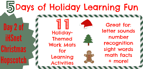 5 Days of Holiday Learning Fun–Day 2: 11 Holiday-Themed Work Mats