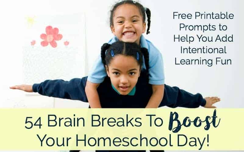 Does your homeschool need a boost? Use 54 brain breaks to give your homeschool the boost it needs.