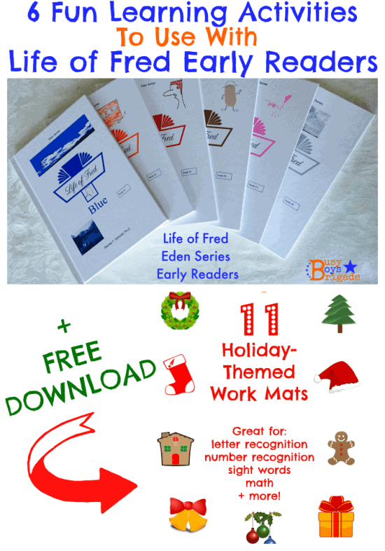 Life of Fred early readers holiday work mats
