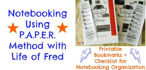 Notebooking Using P.A.P.E.R. Method with Life of Fred