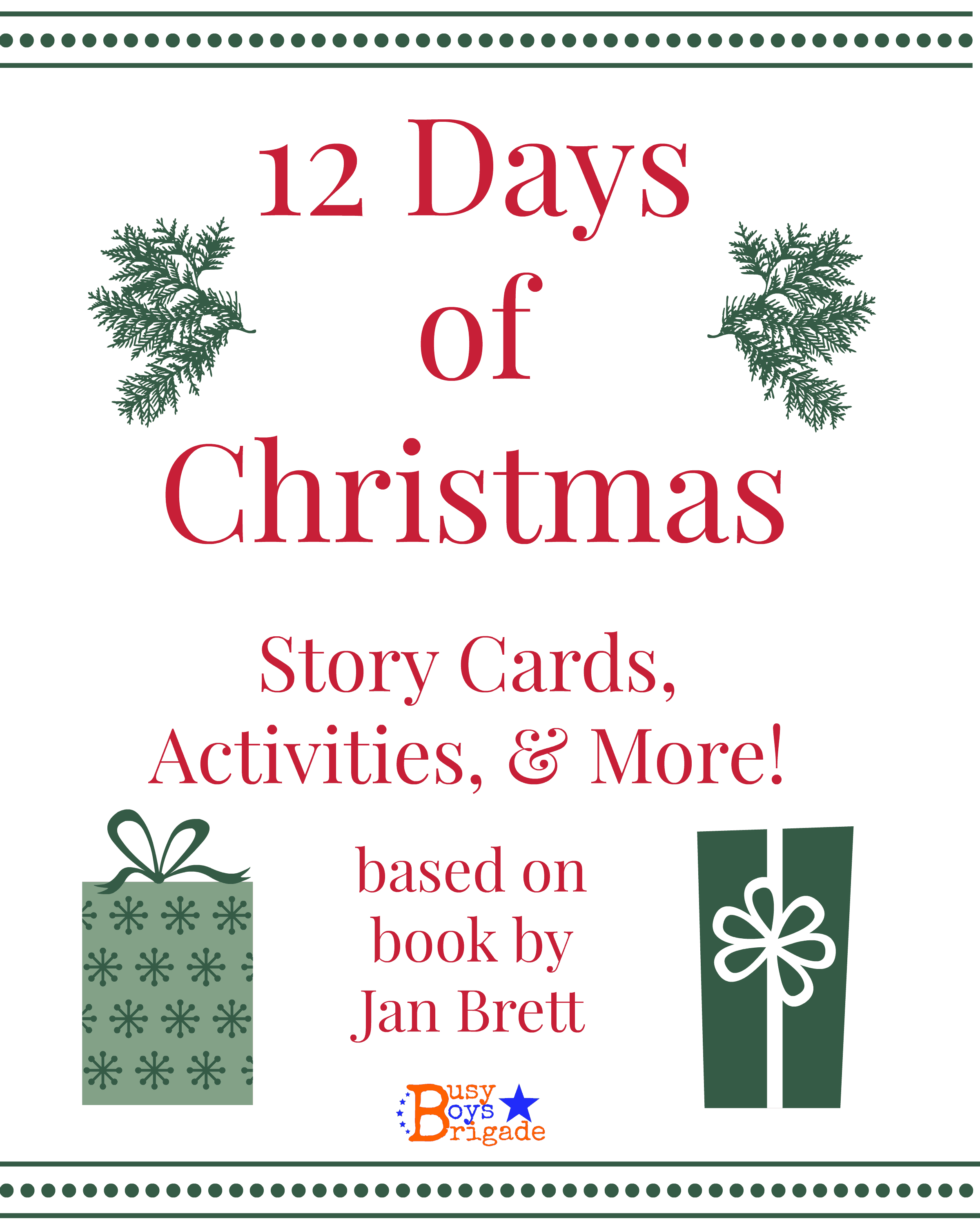 12 Days of Christmas Activity, Games, & Crafts Pack - Rock Your ...
