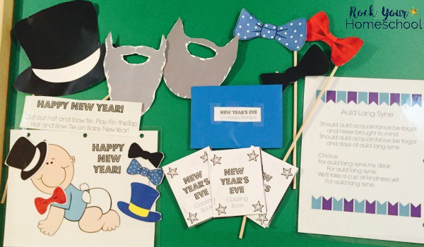 New Year's Eve Fun with Kids is easy with these free printable resources & tips.