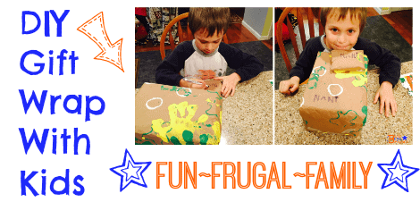 DIY Gift Wrap With Kids