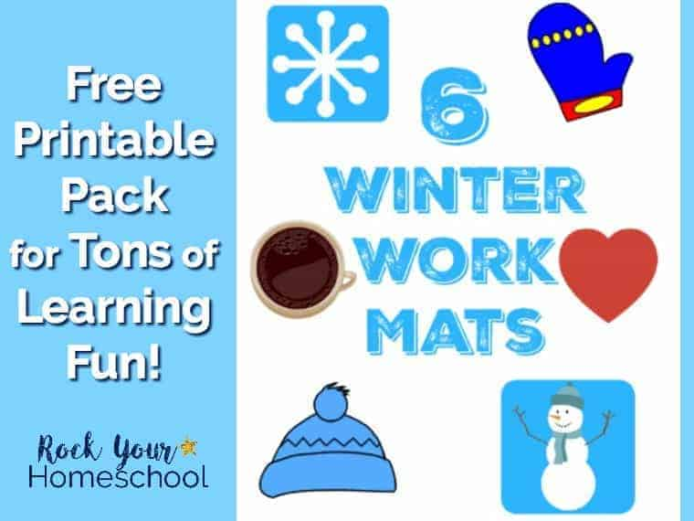6 Winter Work Mats for Learning Fun