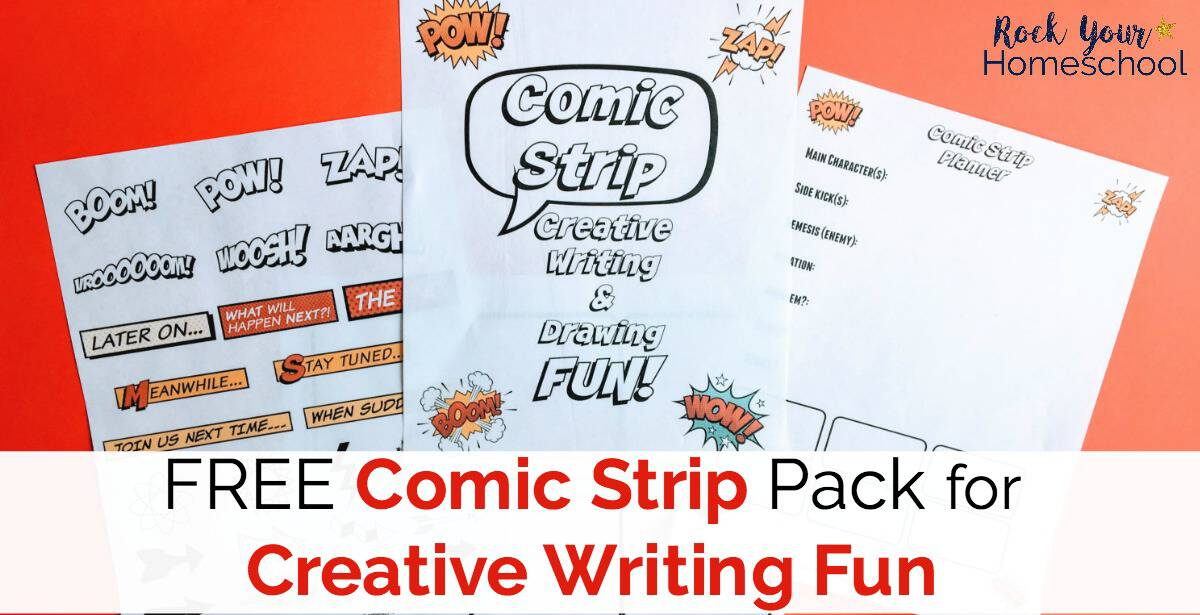 Make your creative writing fun with this free printable pack of comic strip worksheets & planner.