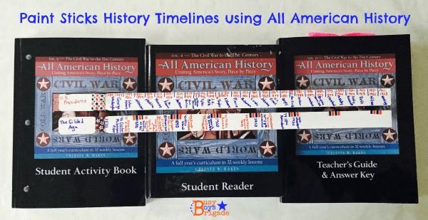 history timeline paint sticks