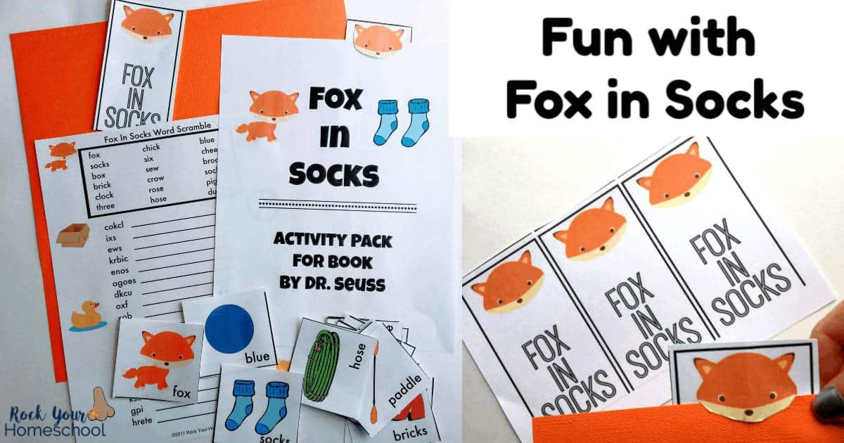 Enjoy some special learning fun with Dr. Seuss! These free printable Fox in Socks activities are wonderful ways to extend learning fun with this classic children's book.