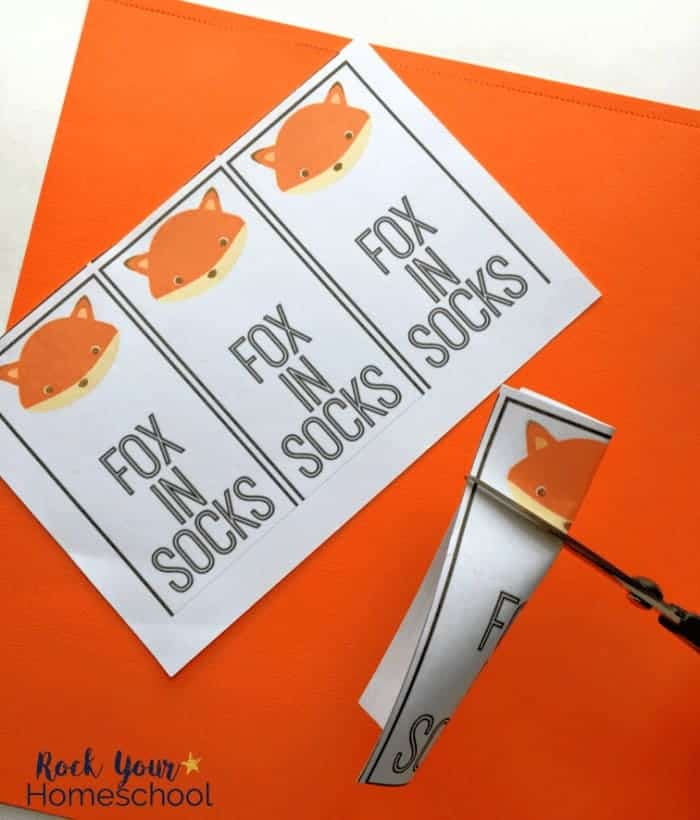 This simple printable bookmark is a fun craft to extend the learning fun with Fox in Socks by Dr. Seuss.
