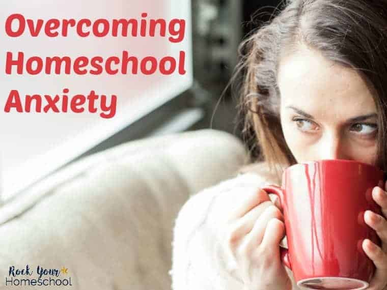 Discover how you can overcome a common homeschool struggle: anxiety. Don't let worries sap you of your homeschool mom powers!