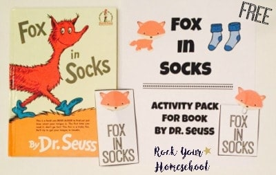 Free Learning Fun Printable Pack for Fox In Socks