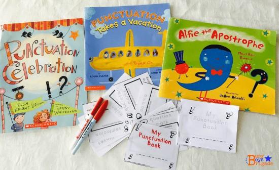 Punctuation books printable
