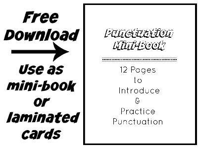 Punctuation Mini-Book download