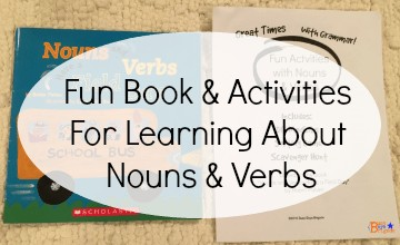 Here is a great book on helping kids learn about the role nouns & verbs play in writing and language. Grab your free printable pack of activities to complement this book.
