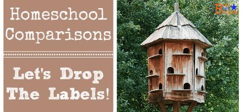 Homeschool Comparisons:  Let's Drop The Labels!