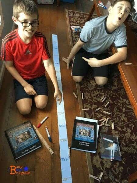 Ribbon History Timeline Using All American History-Busy Boys Brigade