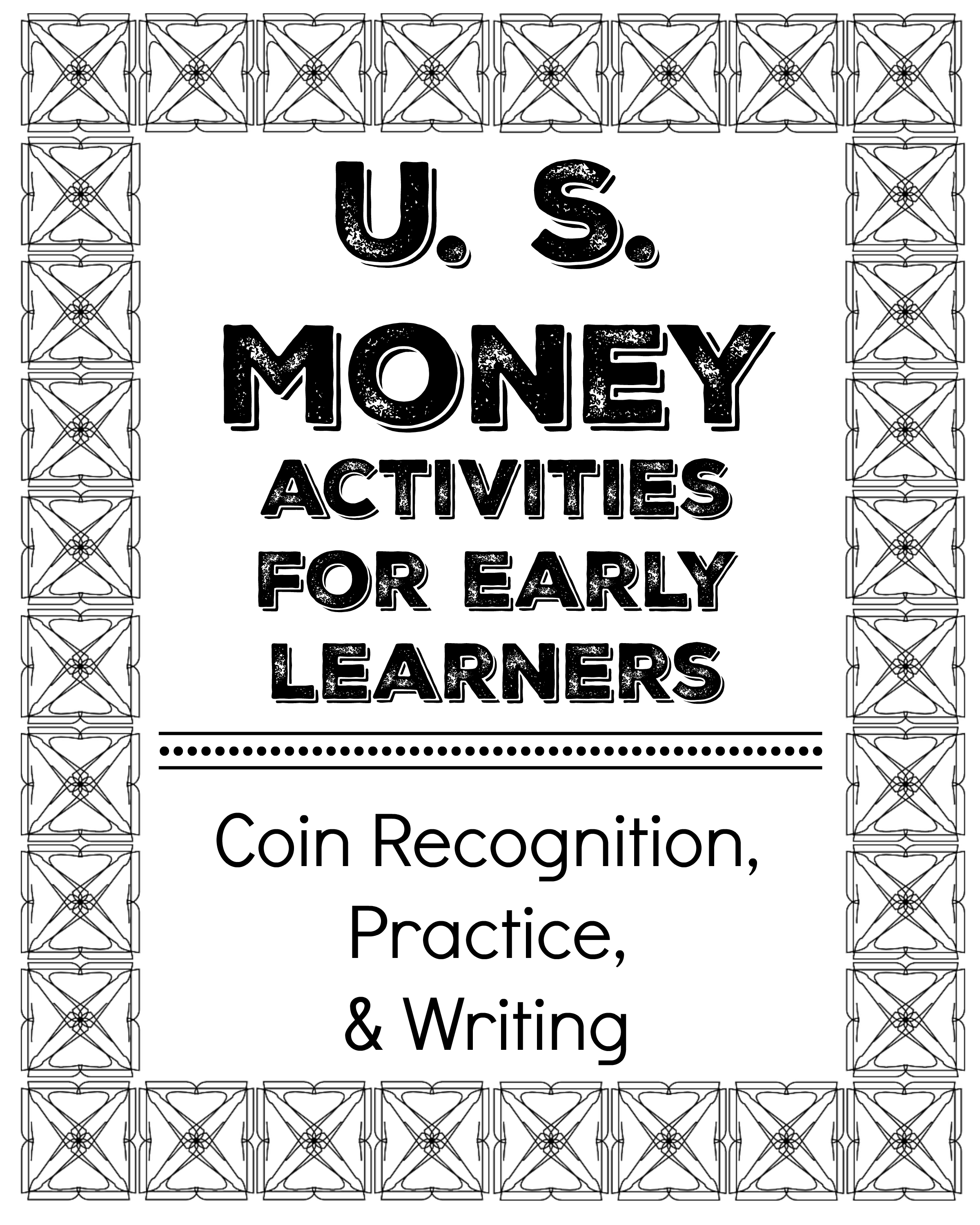 u s money activities for early learners rock your homeschool. Black Bedroom Furniture Sets. Home Design Ideas
