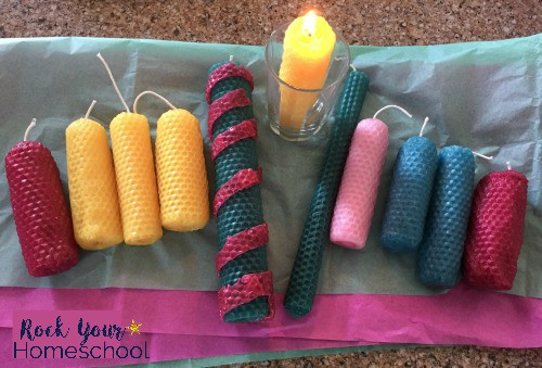 How to make beeswax candles with kids-a simple and fun way for families to make decor and gifts.