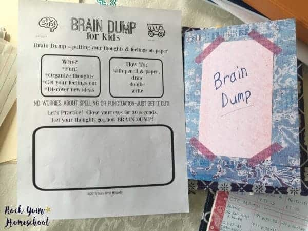 Discover how you can use a brain dump in your homeschool to help your kids and yourself!