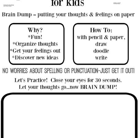 Brain Dump For Kids