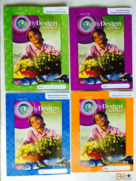 By Design Science uses 4 Student Journals to provide a comprehensive and faith-based approach to science.