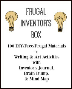 Click here for your free printable pack to help you make a frugal inventor's box that your kids will love!
