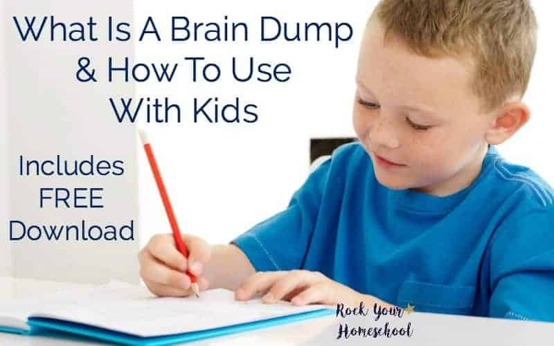 Learn about a brain dump & how to use this helpful activity in your homeschool. Great way to boost self-expression, creativity, & more!