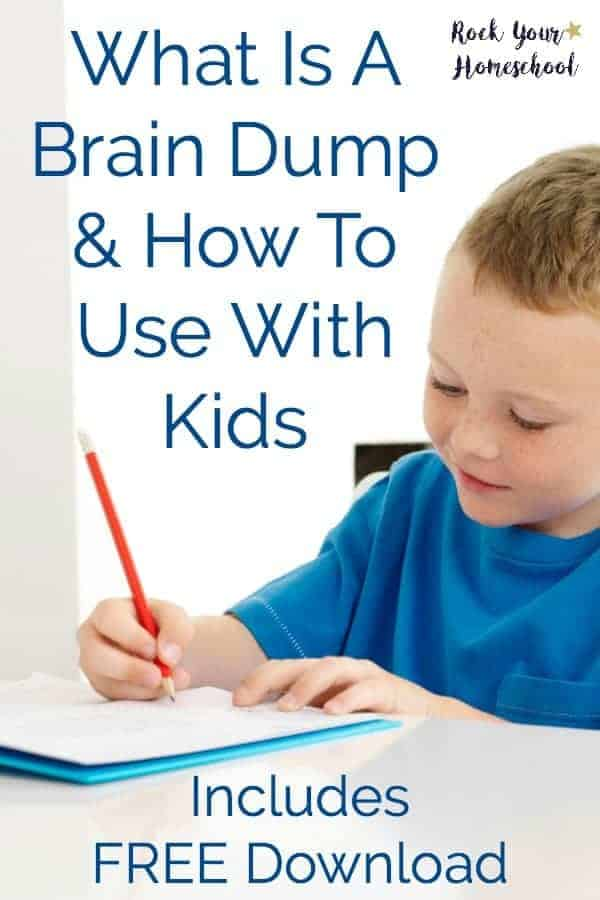 Learn more about what a brain dump is and how to use it in your homeschool. Great way to process thoughts and feelings plus struggles for your kids and yourself!