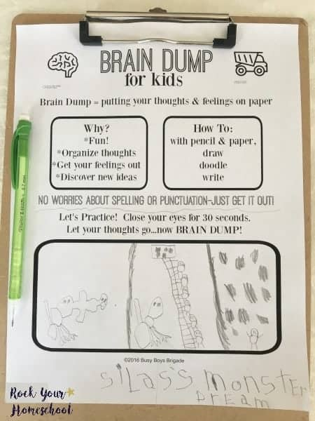 Discover the power of using a brain dump in your homeschool to help your kids express thoughts and feelings.