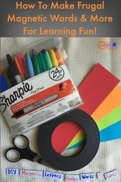 Here is a fabulous frugal way to create your own magnetic words, letters, numbers, & more!