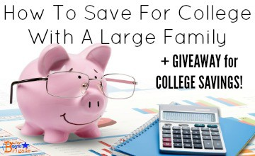 How To Save For College With A Large Family