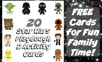 20 Star Wars Cards Your Kids Will Love For Playdough & More!